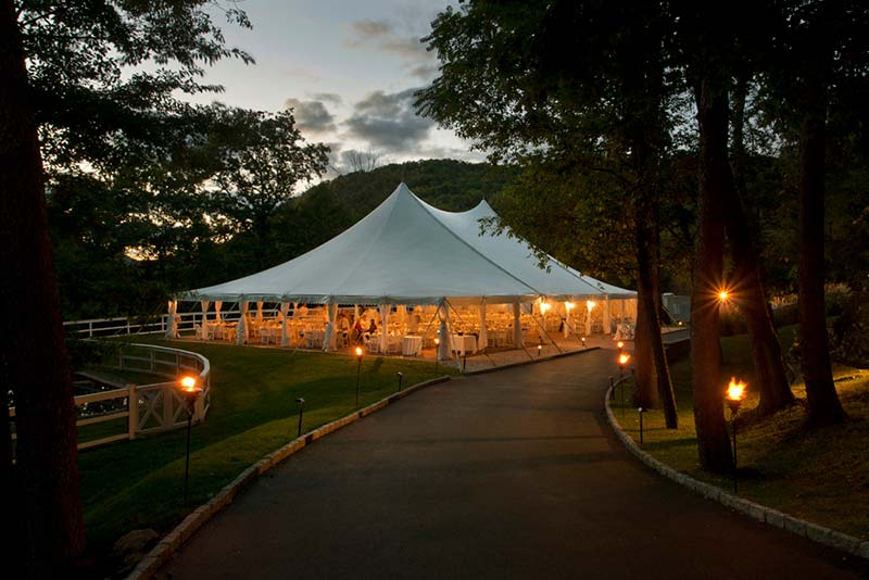 tent pavilion at night